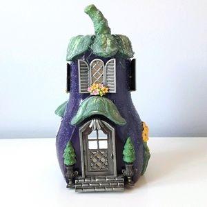 NEW PartyLite Eggplant Cottage tealight holder